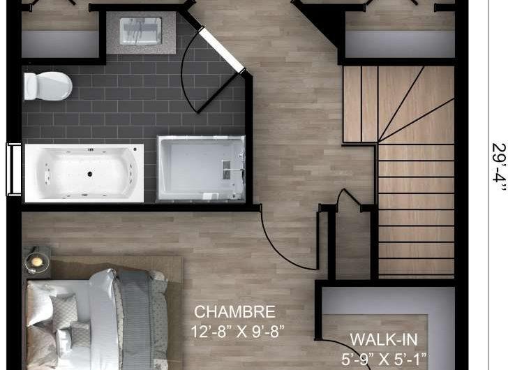 Jumelé Cottage 20′ X 29′