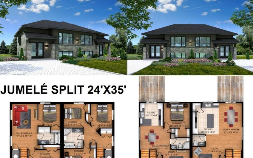 Jumelé Split 24′ X 35′