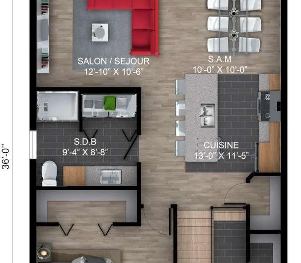 Unifamiliale Split Garage élevé 24′ X 36′