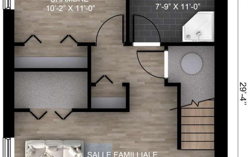 Unifamiliale Cottage 20′ X 29′